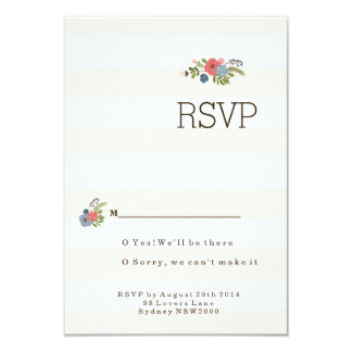 Wedding Ribbon RSVP Announcements