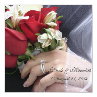 Wedding Ring & Bouquet Wedding Invitation
