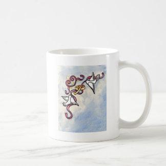 Wedding ring doves coffee mug