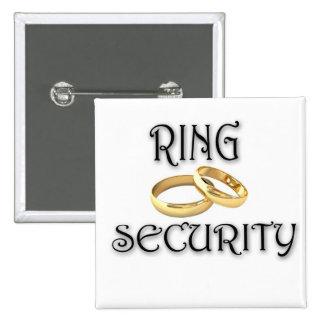 "Wedding ""RING SECURITY"" 15 Cm Square Badge"