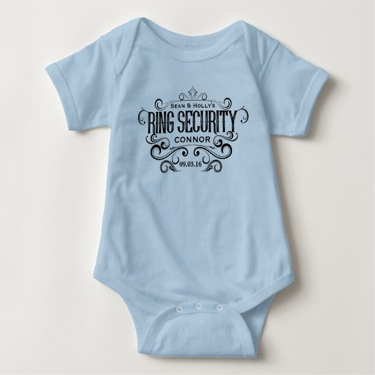 Wedding Ring Security Bridal Party Baby Bodysuit