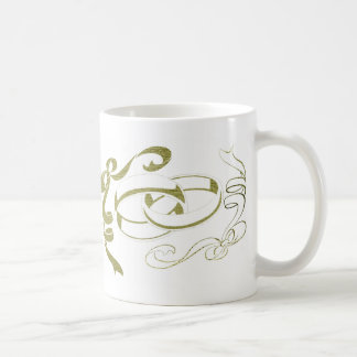 Wedding Rings and Bows Art Coffee Mugs