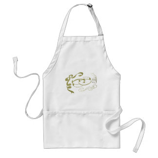 Wedding Rings and Bows Art Standard Apron