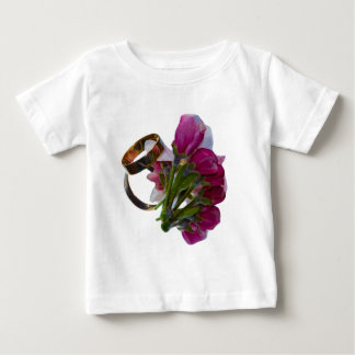 Wedding Rings and Flowers Tee Shirt