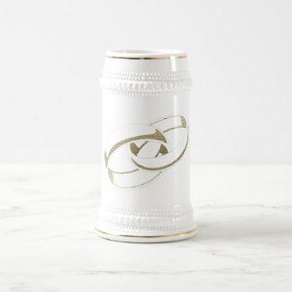 Wedding Rings Art Beer Stein