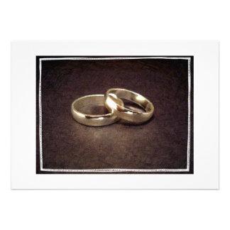 Wedding Rings - Artistic Invitation