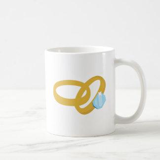 Wedding Rings Basic White Mug