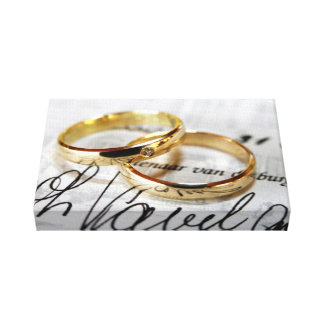 wedding rings canvas canvas print