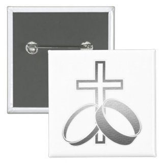 Wedding Rings & Cross for Wedding and Anniversarys Buttons