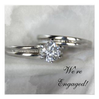 Wedding Rings Engagement Party Invitation