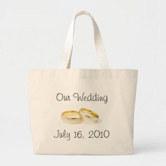 Wedding Rings Large Tote Bag