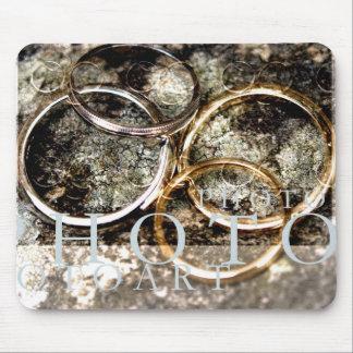 wedding rings mouse mat
