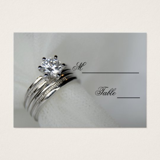 Wedding Rings Place Card
