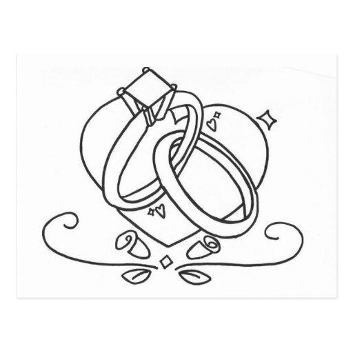 Wedding Rings Post Card