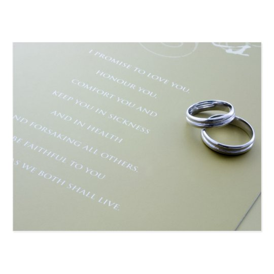 Wedding rings postcard