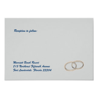 Wedding Rings Reception Custom Announcement