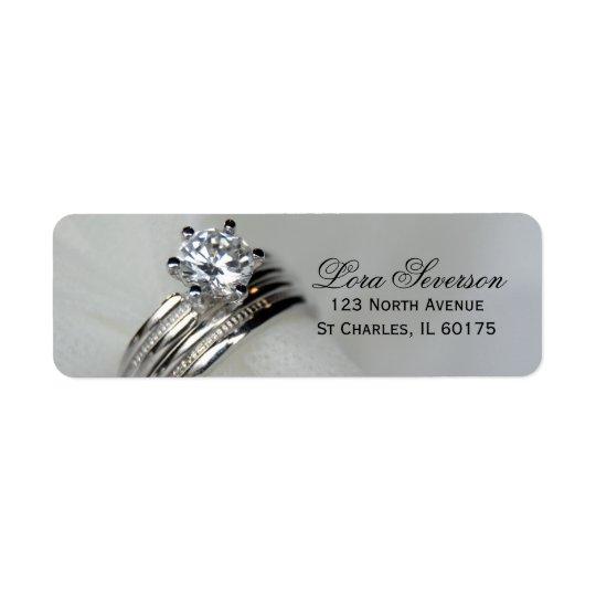 Wedding Rings Return Address