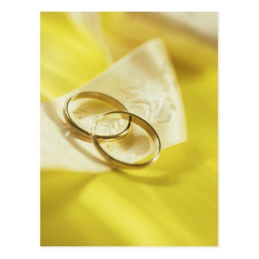 Wedding Rings Ribbon Post Cards