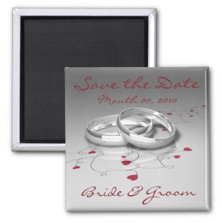 Wedding Rings Save the Date Magnets