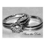 Wedding Rings Save the Date Post Cards