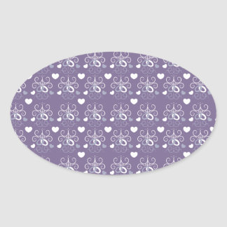 Wedding rings silver on dark purple sticker