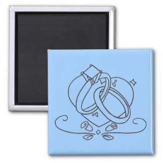 Wedding Rings Square Magnet