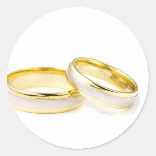 Wedding rings round stickers