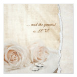 Wedding Rings Vow Renewal 5.25x5.25 Square Paper Invitation Card