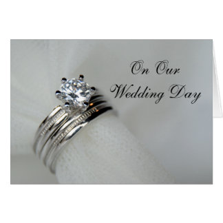 Wedding Rings Wedding Day Card