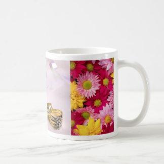 Wedding Rings & Wild Flower Mat (1) Basic White Mug