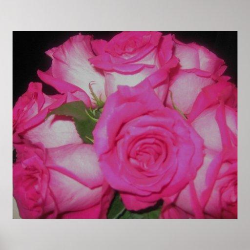 Wedding Rose Bouquet Poster