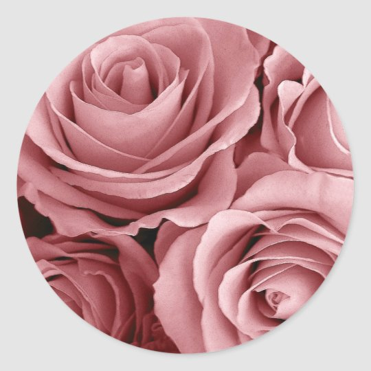 Wedding Rose Classic Round Sticker