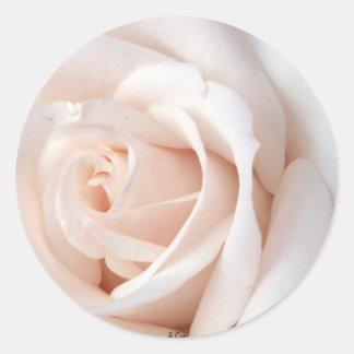 Wedding Rose Round Sticker