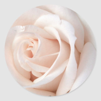 Wedding Rose Round Sticker