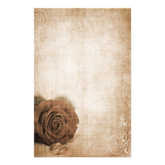 Wedding Rose Vintage Personalised Stationery
