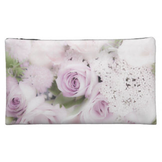 Wedding roses floral arrangement cosmetic bags