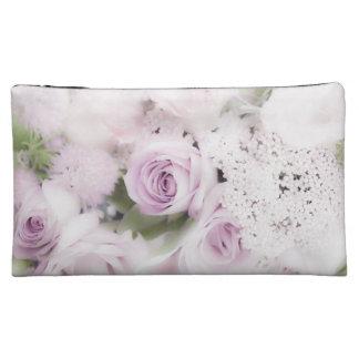Wedding roses floral arrangement makeup bag