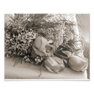 Wedding roses photographic print