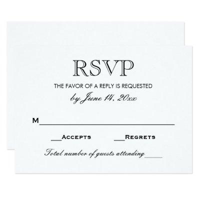 reply card wedding