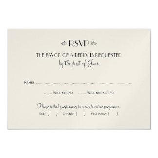 Wedding RSVP Card | Dinner Options 9 Cm X 13 Cm Invitation Card