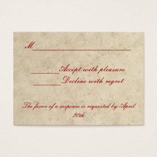 Wedding RSVP Card - Love Always Love Deep