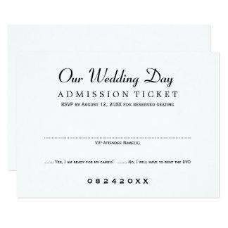 Wedding RSVP Card   Movie Ticket Style
