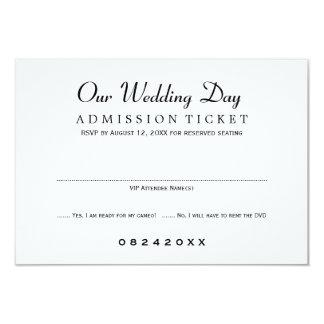Wedding RSVP Card | Movie Ticket Style 9 Cm X 13 Cm Invitation Card