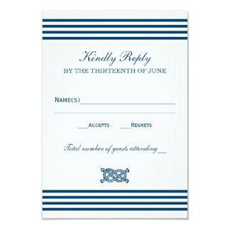 Wedding RSVP Card | Nautical Stripes Theme 9 Cm X 13 Cm Invitation Card