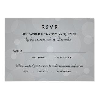 Wedding RSVP Cards | Black and Platinum Gray 9 Cm X 13 Cm Invitation Card