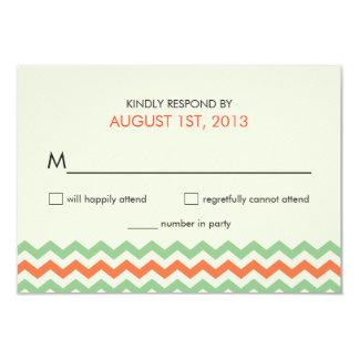 Wedding RSVP Chevron Zigzag Reply Cards