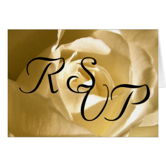 Wedding RSVP Cream Rose Card