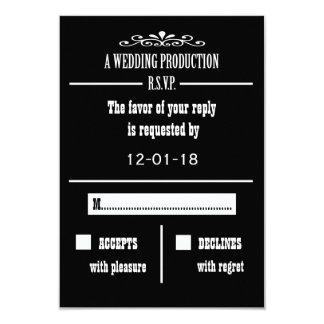 Wedding RSVP Invitation Card