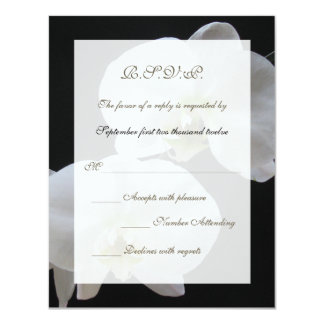 Wedding RSVP Invitation Card -- Orchids