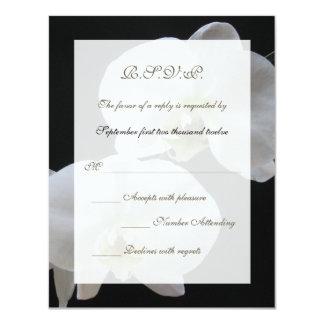 Wedding RSVP Invitation Card -- Orchids